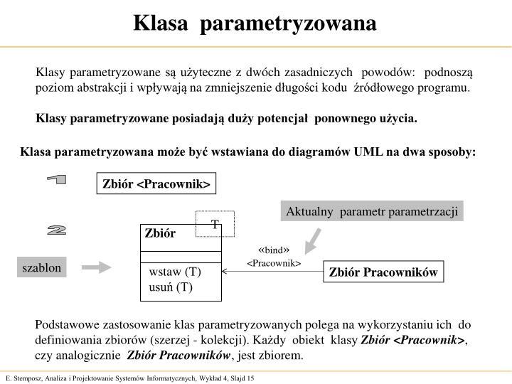 Klasa  parametryzowana