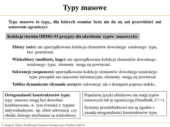 Typy masowe