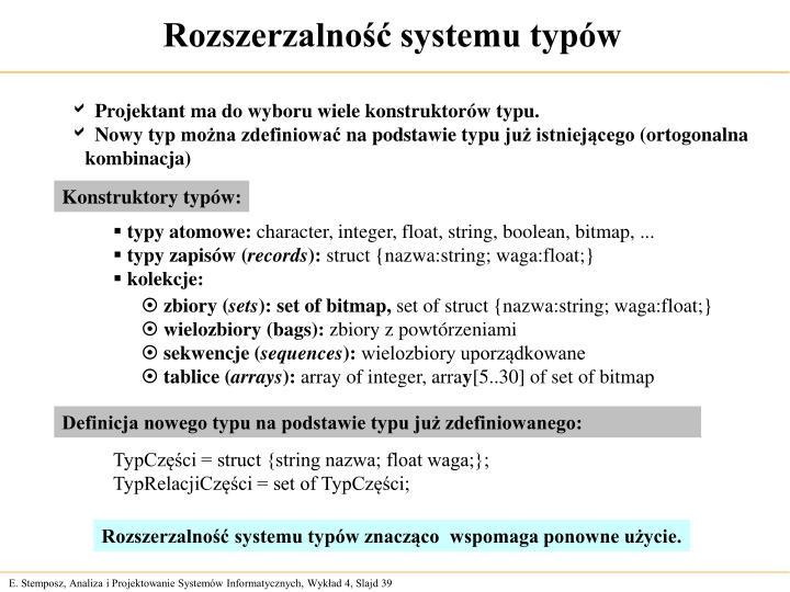 Rozszerzalność systemu typów