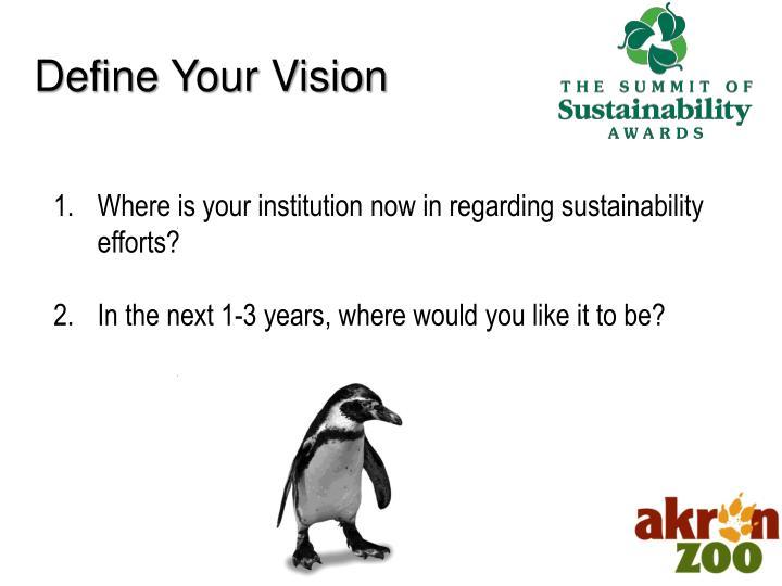 Define Your Vision