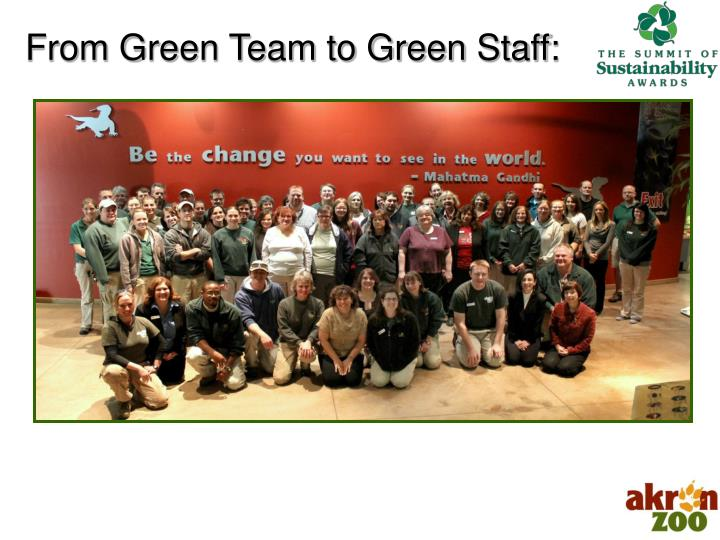 From Green Team to Green Staff: