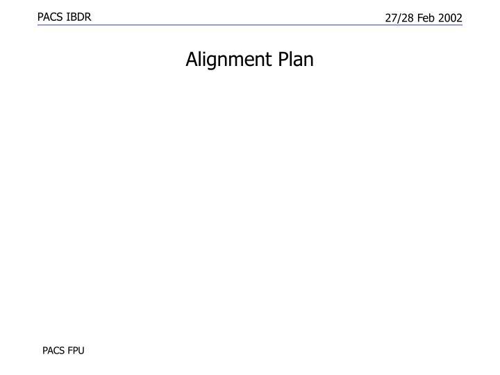 Alignment Plan