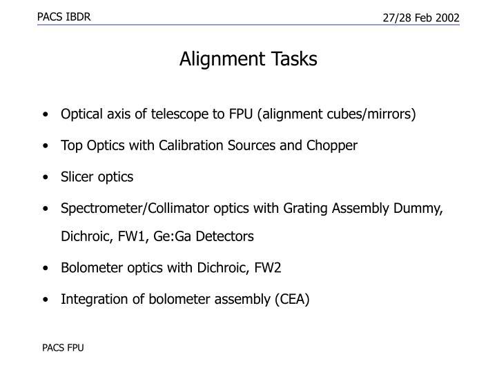Alignment Tasks