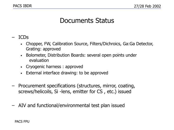 Documents Status