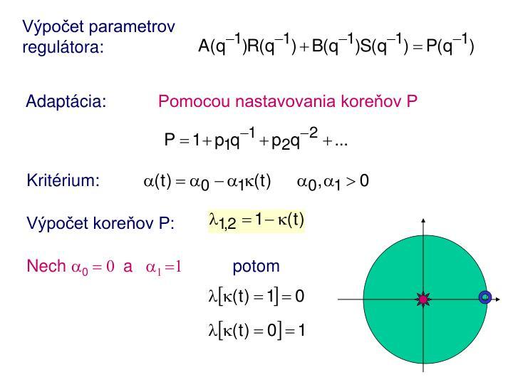 Výpočet parametrov