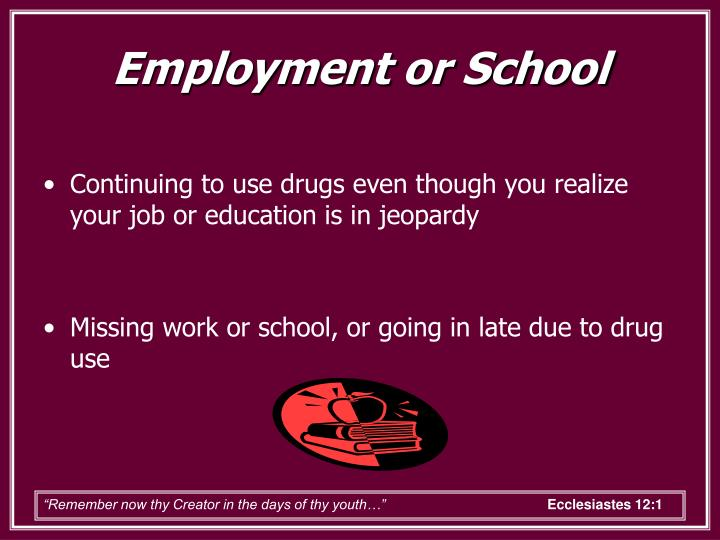 Employment or School