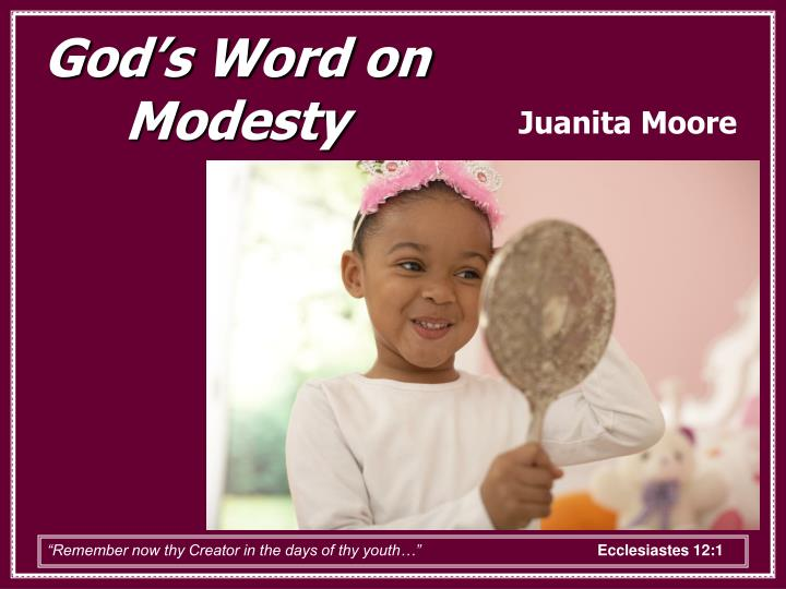 God's Word on Modesty