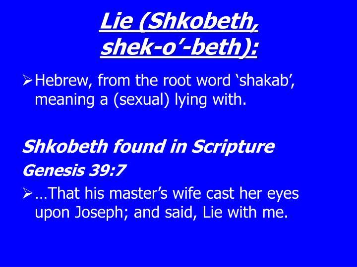 Lie (