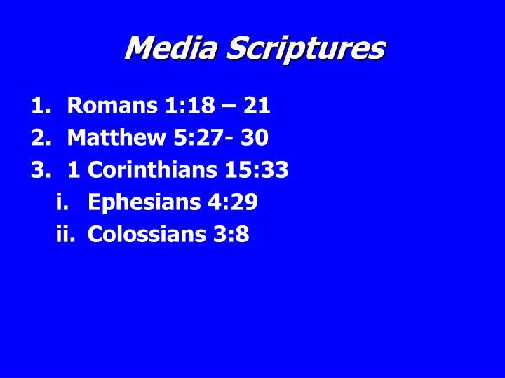 Media Scriptures