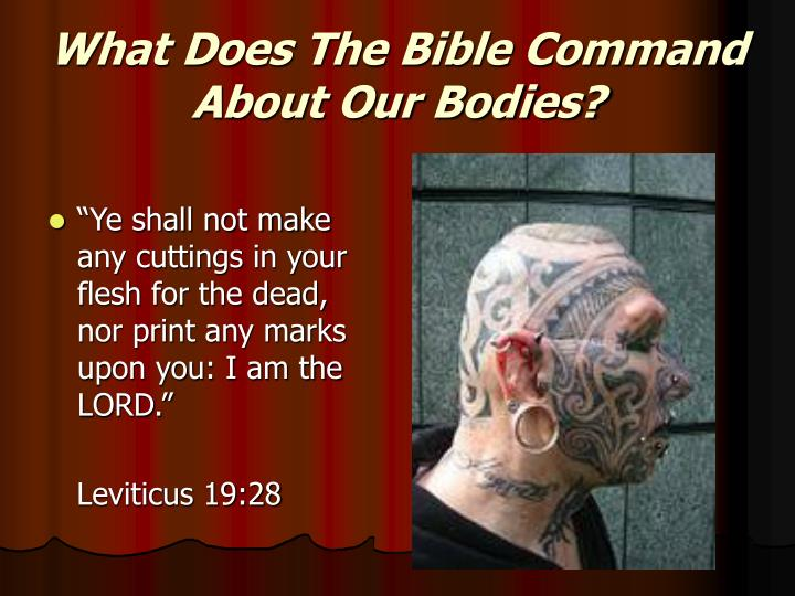 What Does The Bible Command About Our Bodies?