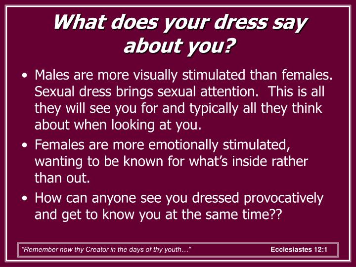 What does your dress say about you?