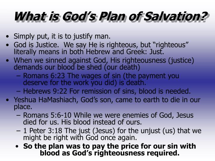 What is God's Plan of Salvation?