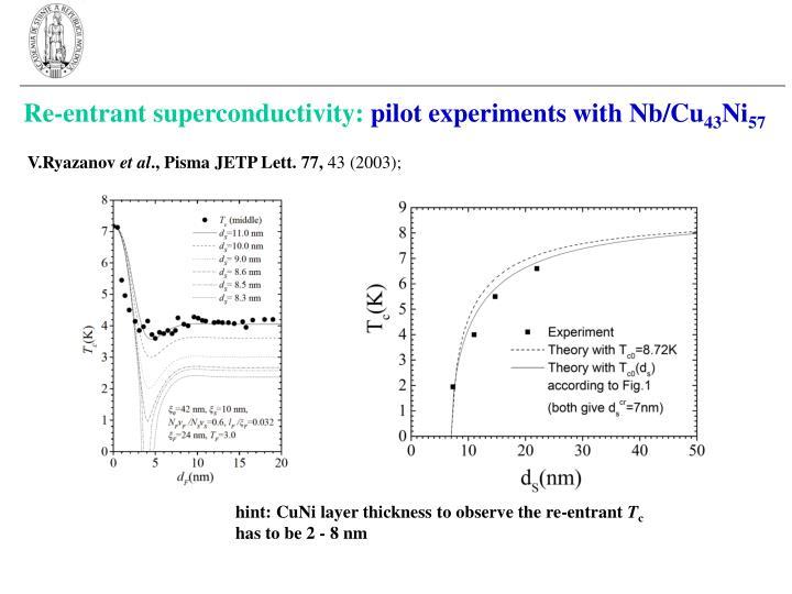 Re-entrant superconductivity: