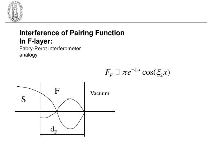 Interference of Pairing Function