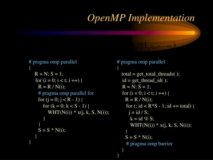 OpenMP Implementation