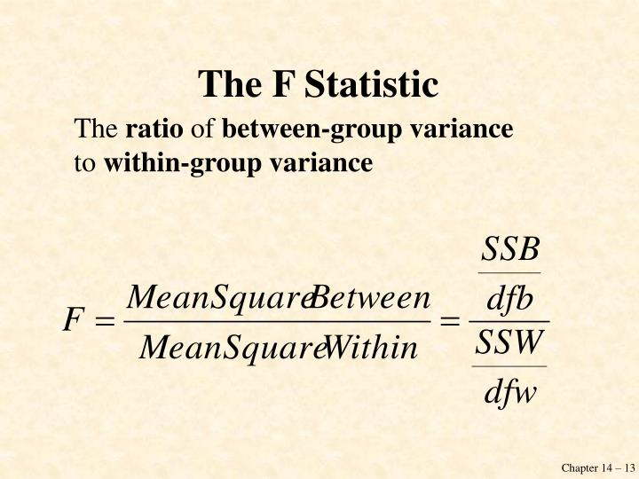 The F Statistic