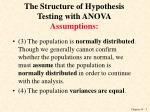 the structure of hypothesis testing with anova assumptions1