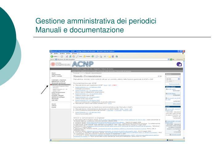 Gestione amministrativa dei periodici