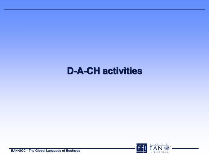D-A-CH activities