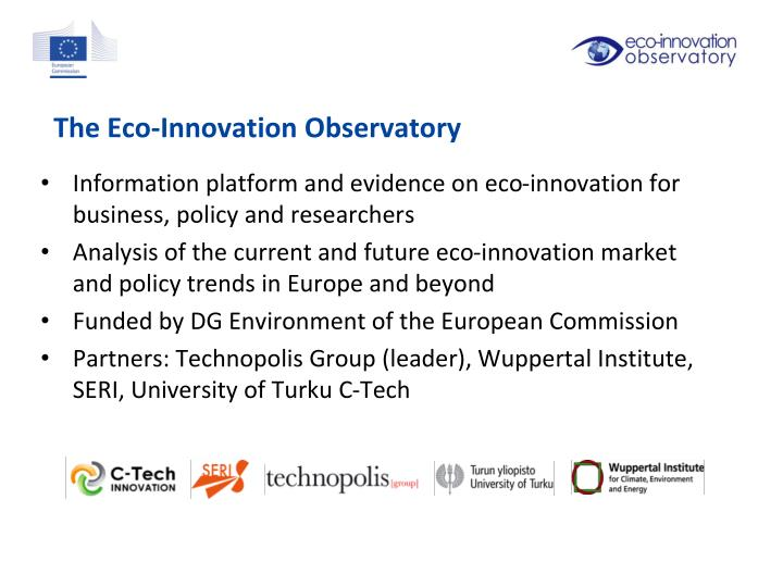 The Eco-Innovation Observatory