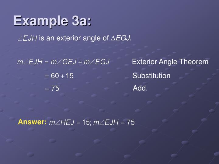 is an exterior angle of