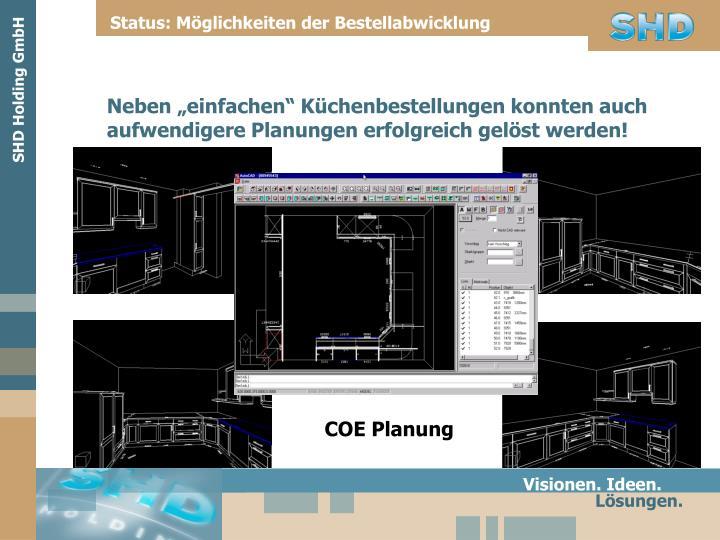 Status: Möglichkeiten der Bestellabwicklung