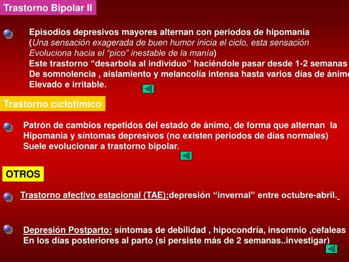 Trastorno Bipolar II