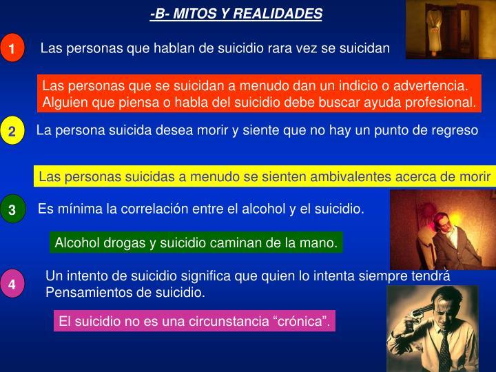 Las personas que hablan de suicidio rara vez se suicidan