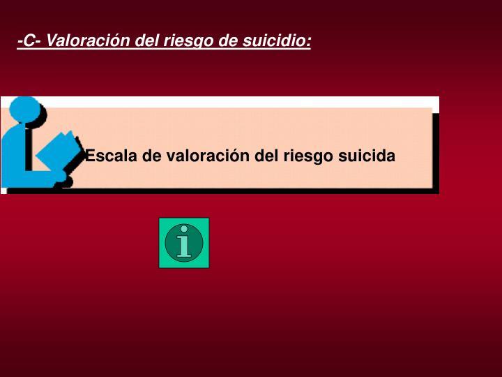 Escala de valoración del riesgo suicida