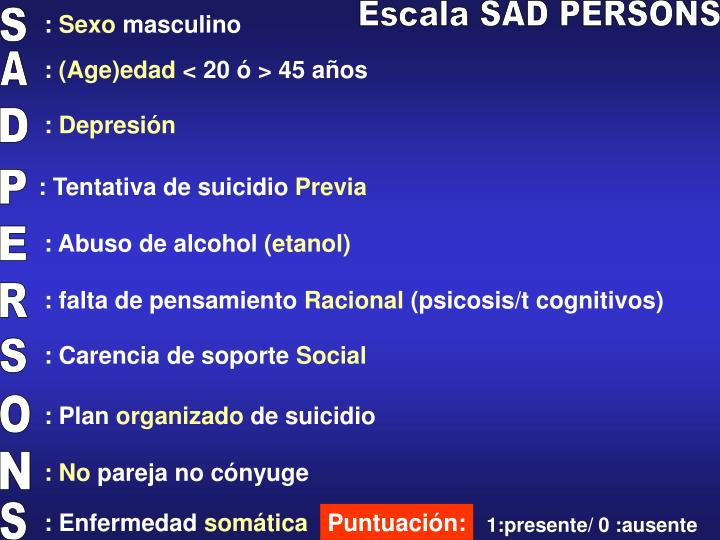 Escala SAD PERSONS