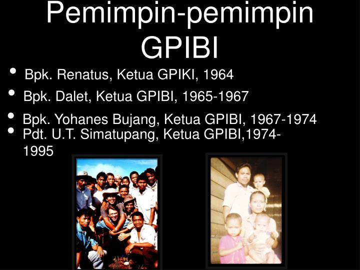 Pemimpin-pemimpin GPIBI