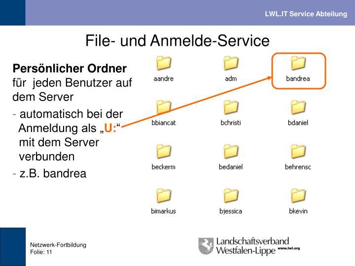 File- und Anmelde-Service