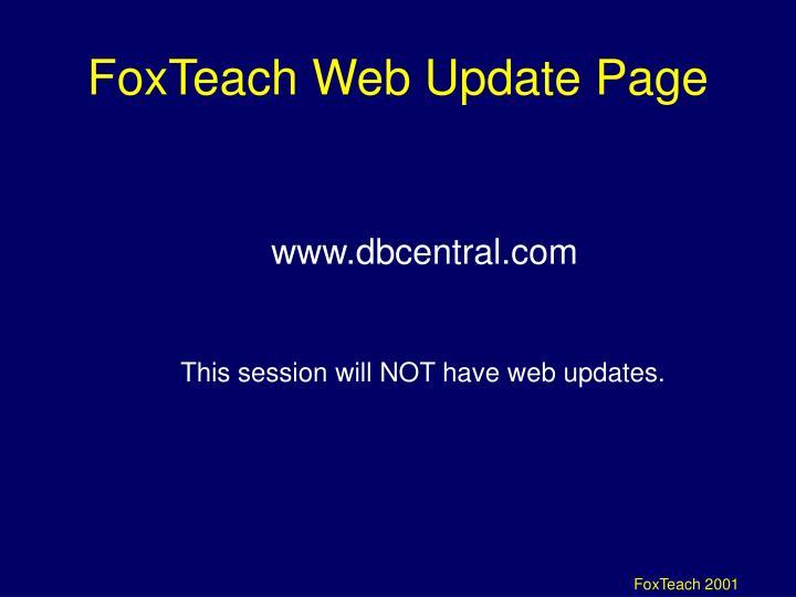 FoxTeach Web Update Page