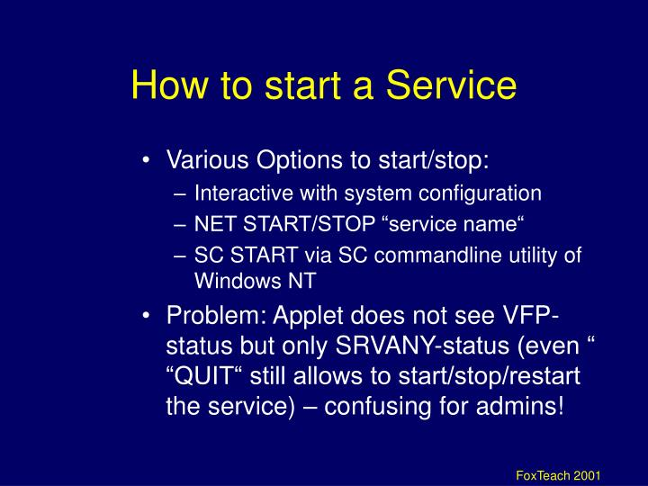 How to start a Service