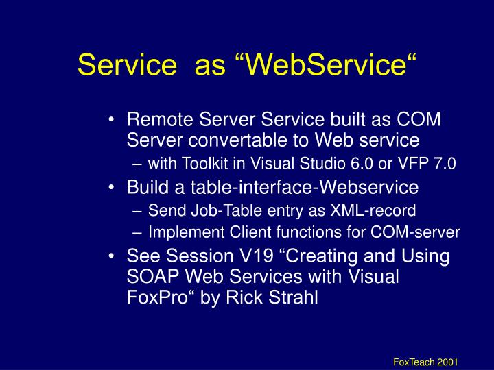 "Service  as ""WebService"""
