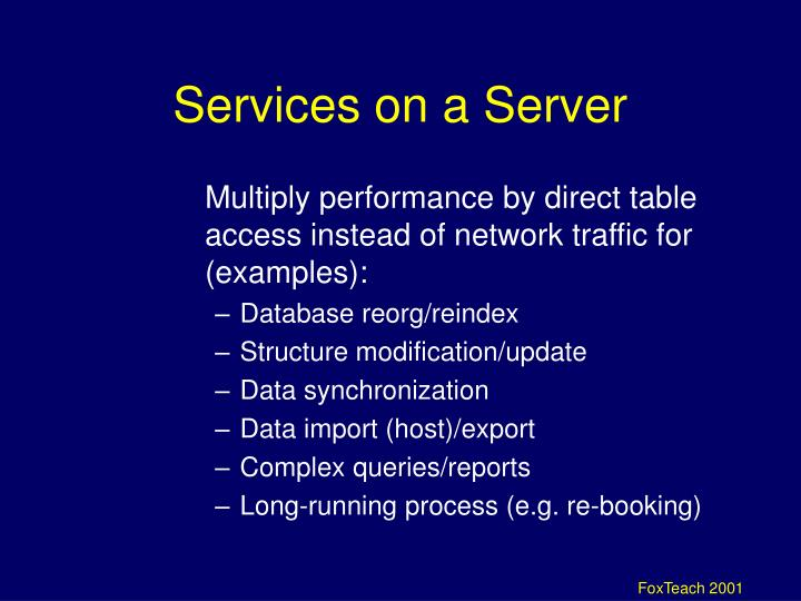 Services on a Server