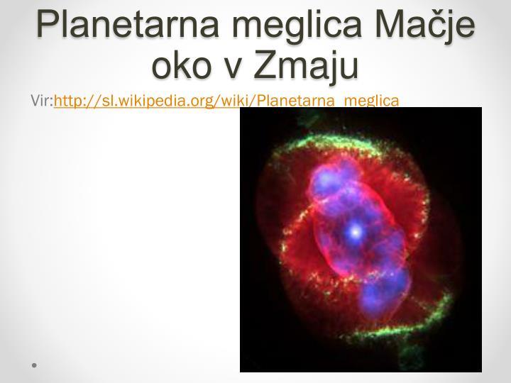 Planetarna meglica Mačje oko v Zmaju
