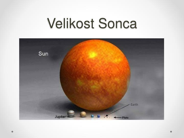 Velikost Sonca