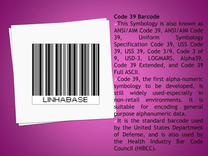 Code 39 Barcode