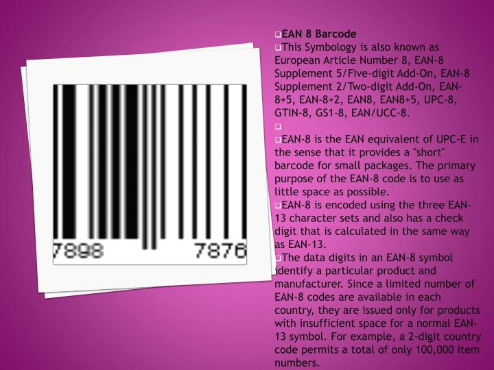 EAN 8 Barcode