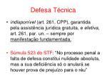 defesa t cnica