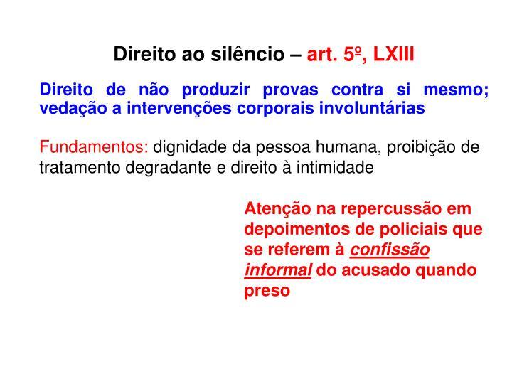 Direito ao silêncio –