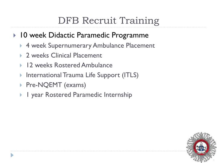 DFB Recruit Training