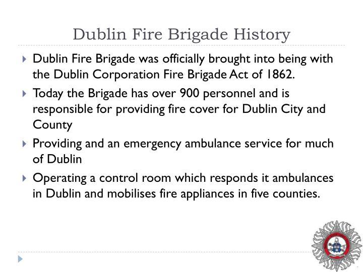 Dublin Fire Brigade History