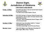 district eight jurisdiction of oklahoma1