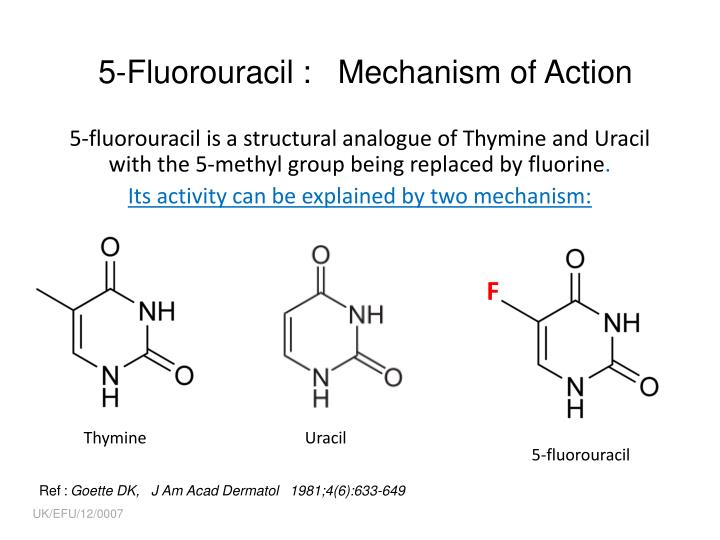5-Fluorouracil :   Mechanism of Action