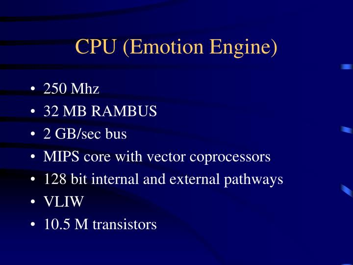 CPU (Emotion Engine)