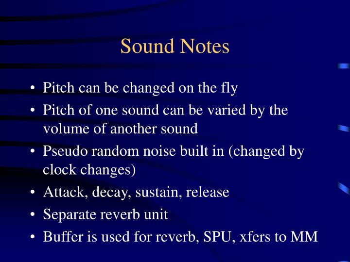 Sound Notes