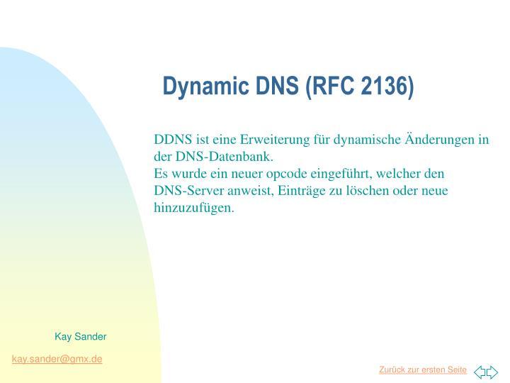 Dynamic DNS (RFC 2136)