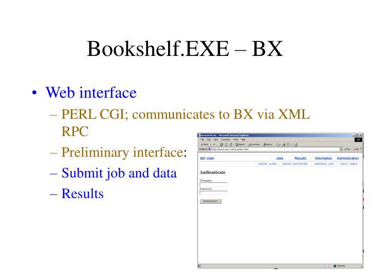 Bookshelf.EXE – BX
